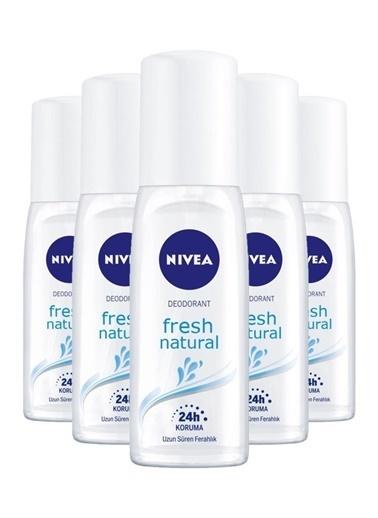 Nivea Nivea Fresh Natural Kadın Deodorant Sprey 75 Ml X5 Renksiz